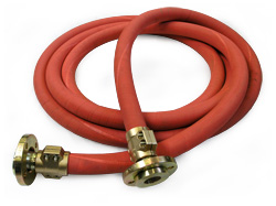 Rubber hoses for steam
