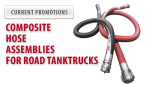 Composite hose assemblies for road tanktrucks